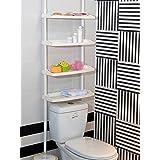 Feibrand 4 niveles de almacenamiento para ducha baño estantes de altura ajustable sin tornillos requiere