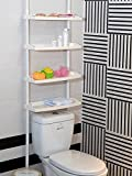 Feibrand 4 Tier Kitchen Bathroom Storage Shower Caddy Shelf Shelves Unit Adjustable Height No Screws Required
