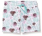 Ben & Lea Mädchen Shorts mit Blumenmuster, Mehrfarbig (Blumen Bunt 099), 110 (Herstellergröße: 110/116)