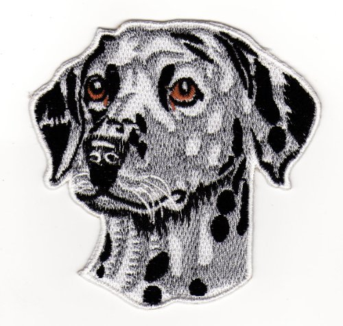 Aufbügler Iron on Patches Applikation Dalmatiner Hund (Dalmatiner-baby-kleidung)