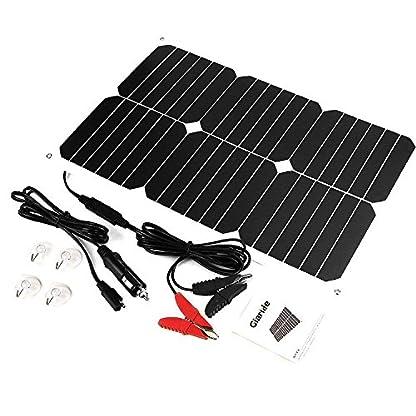 518h%2Bbni%2BSL. SS416  - Giaride Cargador Solar Sunpower Panel Módulo Solar de 12V Baterías Cargador de Coche Portátil Fotovoltaico para Coches, Caravana, Moto, Bote, Barco