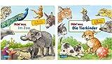 Carlsen Verlag GmbH Hör mal: Im Zoo + Hör mal: Die Tierkinder (2 x Pappbilderbuch im Set)