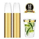 TOROTON 350ml Copas de plástico Desechables, 50 Piezas Vasos de plástico Duro Transparente para...