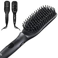 Design Portatile  La spazzola è pensata appositamente per essere sottile e leggera, così da permetterti di lisciare i capelli sia a casa che in viaggio. Un'acconciatura più rapida  La resistenza in ceramica ad alta efficienza termica (MCH) pr...