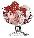 6 x Eisschale Glas / Dessertschale / Früchtebecher Sorbet | 220 ml