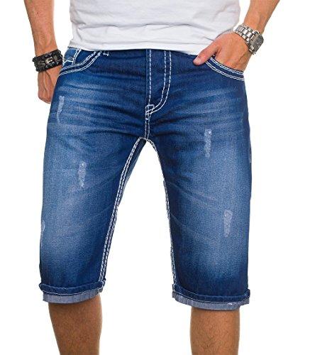 243282d8eed9 Zum Shop · A. Salvarini Herren Jeans Short Kurze Hose Dicke Nähte Bermuda  Shorts AS022