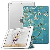 Fintie iPad Mini Hülle - Ultradünne Superleicht Schutzhülle mit transparenter Rückseite Abdeckung Cover mit Auto Schlaf/Wach Funktion für Apple iPad Mini/iPad Mini 2 / iPad Mini 3, Mandelblüten