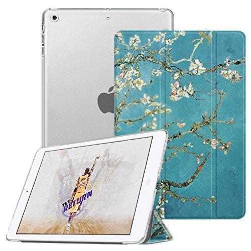 Fintie iPad Mini Hülle - Ultradünne Superleicht Schutzhülle mit transparenter Rückseite Abdeckung Cover mit Auto Schlaf/Wach Funktion für Apple iPad Mini/iPad Mini 2 / iPad Mini 3, Mandelblüten (Fintie Ipad Mini 2 Case Tastatur)