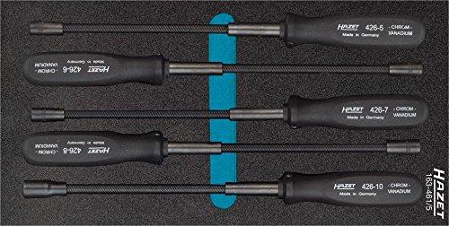 Hazet Flexible Steckschlüssel-Satz 163-461/5 ∙ Außen-Sechskant Profil ∙ Anzahl Werkzeuge: 5