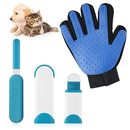 LOETAD Pet Glove Dog Hair Remover Dog Cleaning Brush for Dogs and Cats
