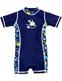 Landora Baby-/Kleinkinder-Badebekleidung Einteiler mit UV-Schutz 50+ und Oeko-Tex 100 Zertifizierung in blau oder türkis