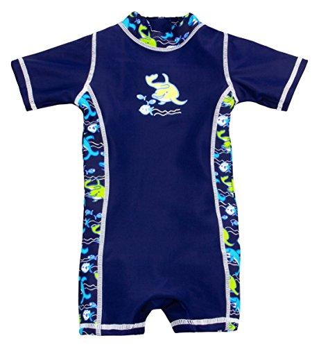 Landora® Baby-Badebekleidung Einteiler mit UV-Schutz 50+ und Oeko-Tex 100 Zertifizierung in blau; Größe 74/80