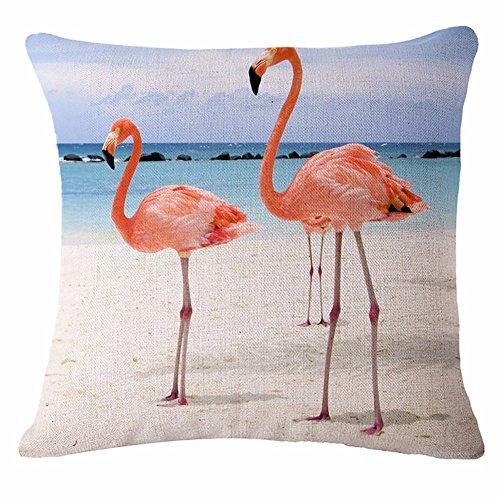 Kissenbezug Cartoon Stil Flamingo Tier Drucken Kissen Sofakissen Kissen Home Möbel Betten Zubehör Kissen Sitzkissen, Ein 2,45 * 45 Cm Faultier-fleece-decke