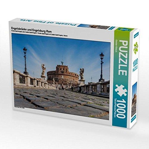 Preisvergleich Produktbild Engelsbrücke und Engelsburg Rom 1000 Teile Puzzle quer: Rom, Italien (CALVENDO Orte)