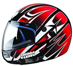 Studds Ninja D4 Full Face Helmet (Black N2, L)