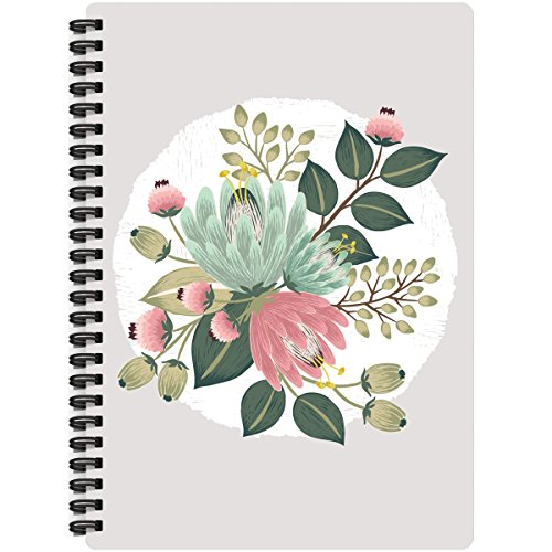 tikal romantische Spirale Gebundenes Notizbuch Bluetooth X 24Blume Bouquet, Acryl, mehrfarbig (Rustikale Bouquet)