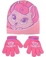 Childrens Palace Pets Accessory Set - Matching Hat & Gloves Girls Pink Purple