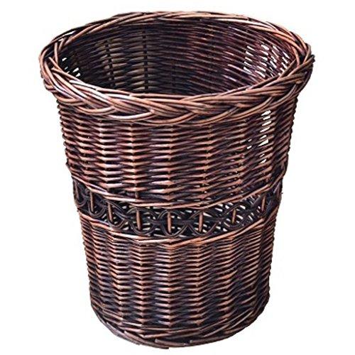 Wicker Outdoor-lagerung (ZXP%lJT Rattan Mülleimer Nicht-Kunststoff Bad Ablagekorb Im Freien Abfalleimer Korb Lagerung Mülleimer - 27x29 CM -Papierkorb)