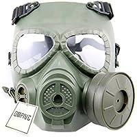 Táctico Máscara QMFIVE Dummy anti niebla máscara de gas M04 con ventilador Airsoft paintbal protección Gear(VERDE)