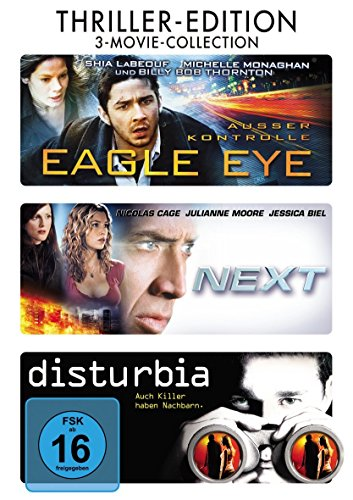 Thriller Edition : Eagle Eye - Next - Disturbia - 3DVD Box