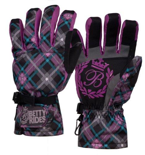 Betty Rides Damen Deluxe Snowboard/Ski Handschuh, damen, Lucky Plaid (Plaid Ski-handschuhe)