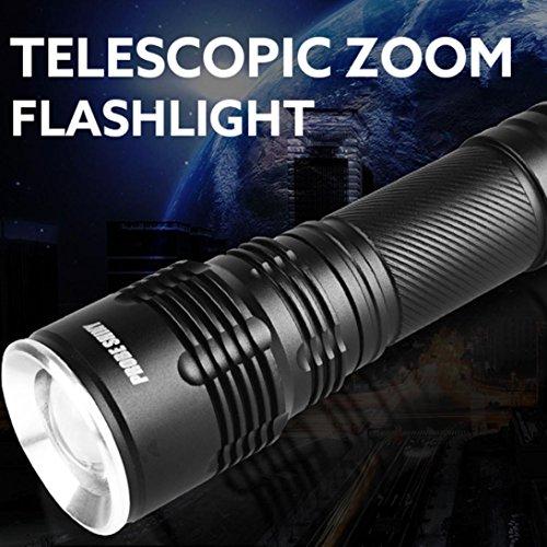gaddrt Sonde glänzend 5000LM XM-L LED T6 Super helle 18650 Taschenlampe 5 Modi gaddrt