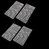 CCCYMM - 4 separadores de rejilla para huevo de la caja de la lona para acuario, acuario, pecera, parte inferior con aislamiento