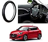 #10: Auto Pearl - Adinox Premium Quality Ring Type Car Steering Wheel Cover (Ultimate Chrome Black) For -Maruti Suzuki Swift 2018
