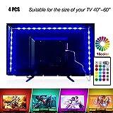 LED Tira de TV, ENES Tiras LED Iluminación 2M USB Tira de LED Retroiluminación LED de TV USB Tira De Luz mit Control Remoto 24 Botones para TV DE 40 A 60 Pulgadas HDTV, Monitor de PC