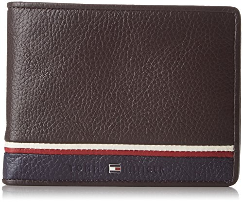 tommy-hilfiger-corporate-cc-and-coin-pocket-portamonete-uomo-braun-coffee-bean-2x10x13-cm-l-x-h-d