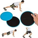 VLFit 2 x Discos Deslizantes Doble Cara Disco Abdominales para Abs Entrenamiento, Hogar, Yoga, Fitness, Pilates, Ejercicios de Cuerpo - Para Uso en Alfombra y Pisos Duros