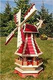 Große Windmühle mit Beleuchtung Solar
