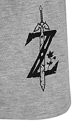 The Legend Of Zelda Breath Of The Wild - B&W Link Pyjama gris