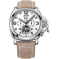 YPS Automatic SelfWind Men Alloy CaseMaterial Matte Leather Band Calendar Display Luminous Hands Wrist Watch WTH5294