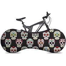 VELOSOCK Copertura da Interni per Biciclette – SKULLS - La miglior soluzione per mantenere pavimenti e pareti PRIVI DI SPORCIZIA – Si adatta al 99% di TUTTE le biciclette per ADULTI