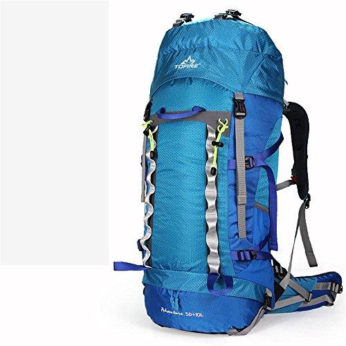 ALUK-Outdoor borsa da viaggio arrampicata doppio pacchetto della spalla da trekking impermeabili tende zaino campeggio blu