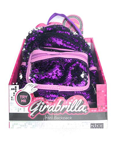 Girabrilla mini Zaino di colore Viola - Argento - Girabrilla di Nice 02516