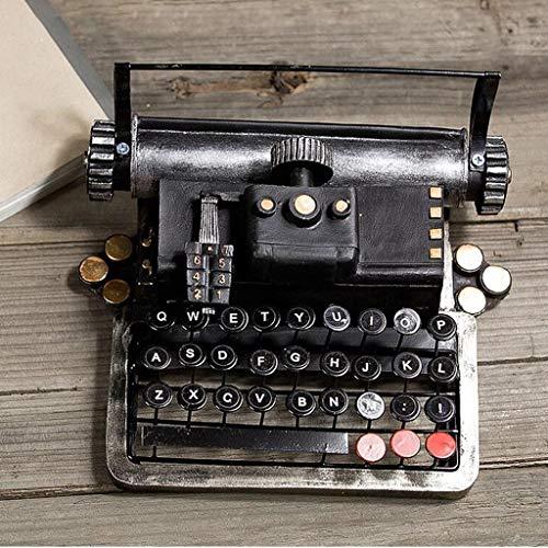 D_HOME Kreatives amerikanisches Retro- Schreibmaschinenmodell verziert Wohnzimmer Fernsehmöbel-Weinschrankdekoration-Haupthandwerkseinrichtungsgegenstände (Farbe : SCHWARZ)