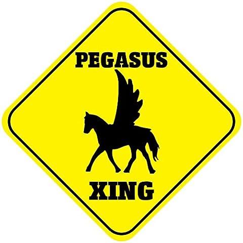 Pegasus Crossing Funny Métal Aluminium fantaisie Sign