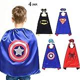 Superhelden Dress Up Kostüm Spielzeug Superhelden Cape und Maske 4 Set für Kinder Jungen Party Geburtstag Geschenk