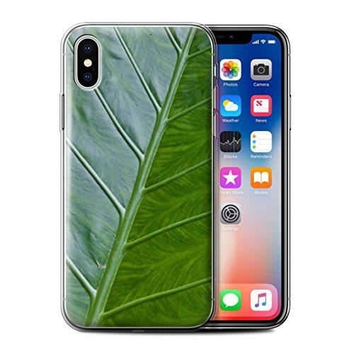 Stuff4 Gel TPU Hülle / Case für Apple iPhone X/10 / Pack 8pcs / Pflanzen/Blätter Kollektion Vene