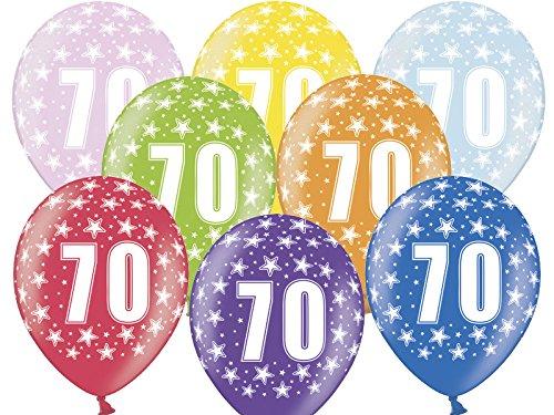GLOBO de aire 630cm por 70cumpleaños–azar variadas de 8colores–Kleenes sueño Comercio