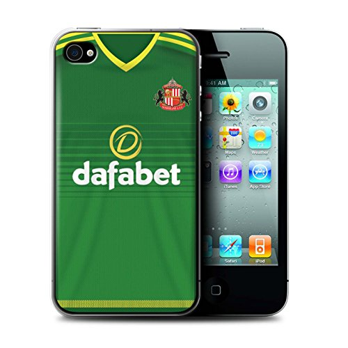 Offiziell Sunderland AFC Hülle / Case für Apple iPhone 4/4S / Pack 24pcs Muster / SAFC Trikot Away 15/16 Kollektion Fußballer