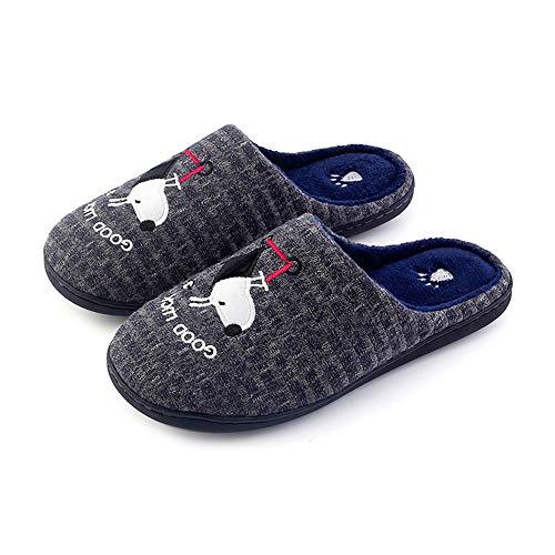 Slippersxsj pantofole da uomo in cotone pantofole pantofole semplici e comode in cotone caldo, 42-43 / 26cm