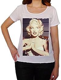 Marilyn Monroe Diamonds, tee shirt femme, imprimé célébrité, Blanc, t shirt femme,cadeau