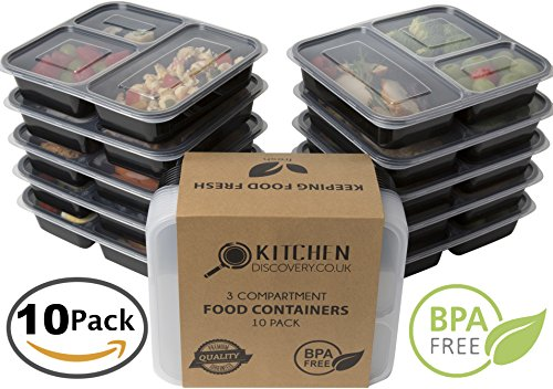 #1 3 Compartment Food Containers With Lids for