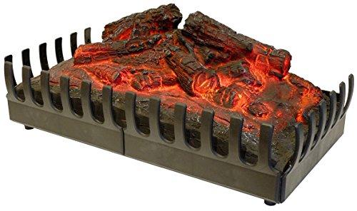 Chemin'Arte 094 Deko-Holzscheite, rot leuchtend, für elektrische Kamine - Kamin Holzscheite Für Den