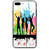 ZZHOO Compatible with iPhone 7/8 Plus Case, Silhouettes of People Dancing Partying...