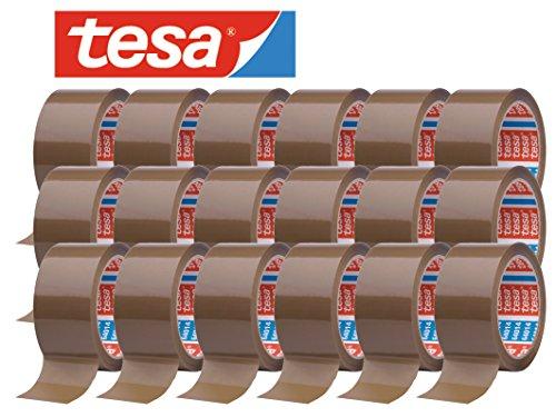 tesa 64014 Klebeband Paketklebeband Packband 66m x 50mm (18 Rollen, Braun)