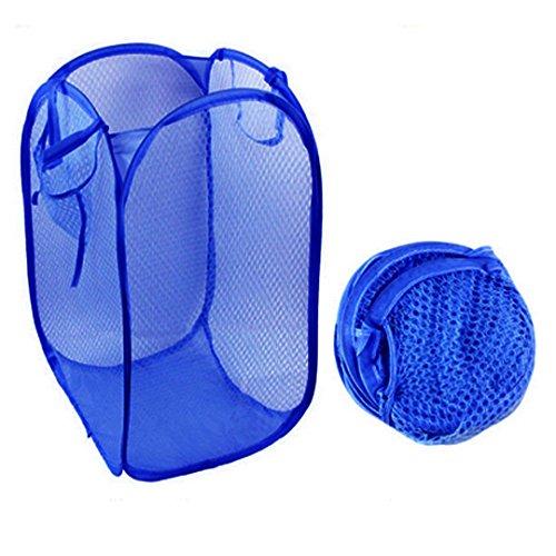 Preisvergleich Produktbild AiSi faltbarer Wäschekorb Aufbewahrungskorb Wäschenetz Kinderspielzeug aufbewahrung Spielzeugkiste Sortierbox Faltbox Storage Lösung für die Organisation der Toys und Wäsche dunkelblau
